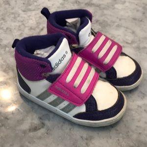 Toddler adidas hightop sneakers
